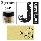 Pearl Ex Mica Powdered Pigments - 3g bottles - BRILLIANT GOLD 656