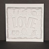 "Mould 050060 - ""LOVE"" Plaque"