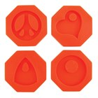 Groovy Pendants Moulds Set of 4