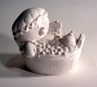 LM 1069 Bear in Bath Latex Mould/Mold for Plaster/candle/Soap/Concrete