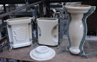 Range of 13 Polyurethane & Fibreglass Concrete Moulds