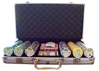 300 poker CHIP SET with 14g royal flush chips packed in a deluxe aluminum case with FREE SHIPPING