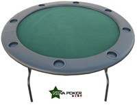 Round professional texas hold'em POKER TABLE with 8 drink holders inc FREE protector cover ★