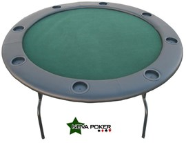 Round Professional Texas Hold'em POKER TABLE with 8 Drink Holders inc Free Cover
