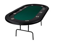 "Nova Deluxe Oval Texas Hold'em POKER TABLE (84"" 213cm 7ft)"