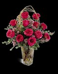 E8-4203S Blazing Beauty Rose Bouquet