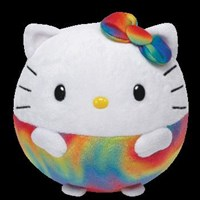 Ty Beanie Ballz - Hello Kitty Rainbow