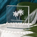 20817P Etched Palm Trees Cake Top