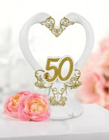20767 Gilded 50th Anniversary Cake Top