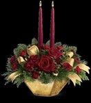 TWR06-3A Crimson and Gold Centerpiece