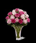 12-M7d Mother's Day Mixed Pink Rose Bouquet