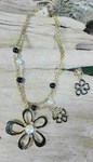 Flower Necklace and Earring Set