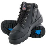Steel Blue Parkes Zip/Lace-up /Scuff Cap Safety Boots