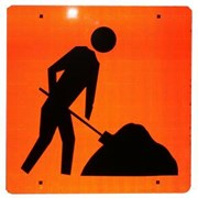 Symbolic Workman Sign 600x600 Corflute Class 1 Refective