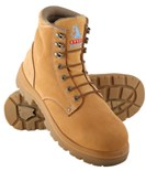 Steel Blue Argyle Lace Up Safety Boots