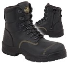 55-245Z Oliver Safety Boot Black Zip Side / Lace-Up Steel Toe