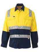 Bisley Taped Standard Weight Hi-Vis Shirt
