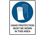 Sign Hand Protection Must Be Worn In This Area - Mandatory Sign