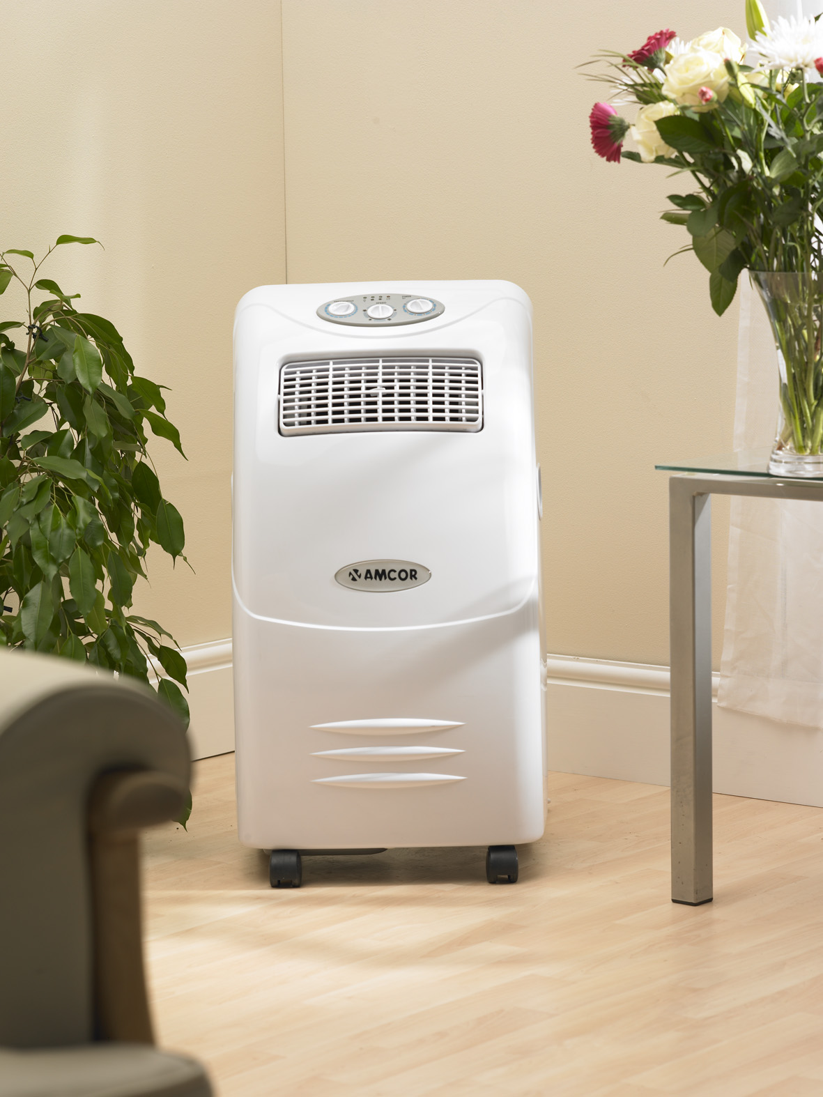 amcor amb10ke 2 4kw 8 000btu quiet portable bedroom air conditioner