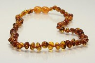 Amberbebe Baltic Amber Children's Necklace 33cm Congac