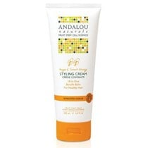 Andalou Naturals Smooth Hold Styling Cream 200mL with Sweet Orange & Argan Oil