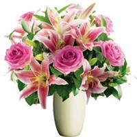 Roses & Lilies Pink Tones, From $55