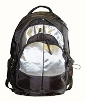 Members Laptop Backpack  Black/Silver