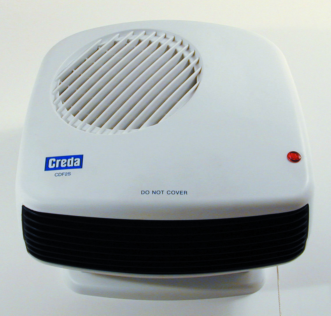Creda CDF1 1Kw Compact Bathroom Downflow Fan Heater Storage Heaters Electri