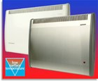 Consort Claudgen PLST150TISS 1.5kw slimline LST Low Surface Temperature fan heater with thermostat and timer