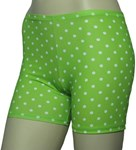LIME SPOTTY BOY LEG SWIM SHORTS - SIZE 16