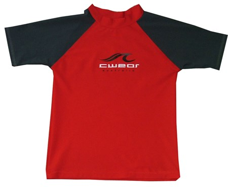 RED SWIM SHIRT with CARBON SLEEVES - BABY / TODDLER
