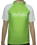LIME SPOTTY SWIM SHIRT - SIZE 4 - 6