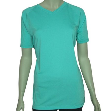 V-NECK SWIM SHIRT - ATLANTIS GREEN 2XL - 5XL