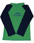 GREEN SWIM SHIRT with NAVY LONG SLEEVES - SIZE 0 with FREE SHORTS