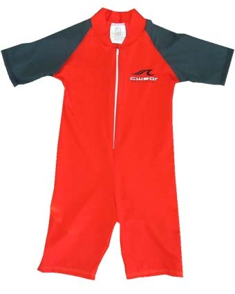 RED SWIMSUIT  with BLACK SLEEVES - JUNIOR