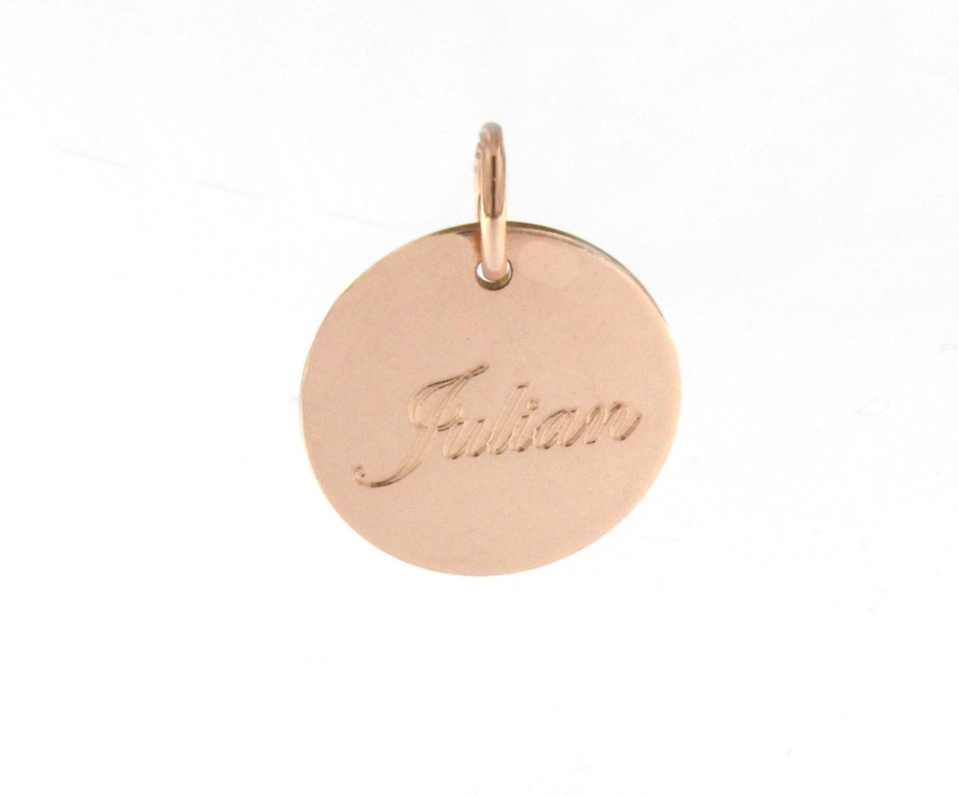 Engraved Rose Gold Name Disc