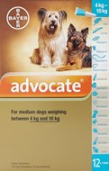 Advocate Dogs 8.8-22lbs (4-10kg) - 12 Pack