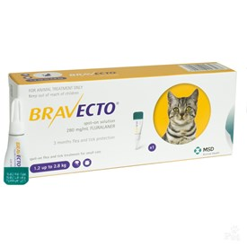 Bravecto Spot-On Small Cat 3 - 6 lbs (1.2 - 2.8 kg)