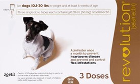 Revolution Brown Dogs 10-20lbs (5-10kg) - 3 Pack