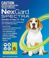 Nexgard Spectra Medium 16 - 33 lbs (7.5 - 15 kg) - 6 pack