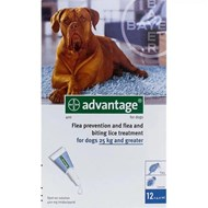 Advantage Blue Dogs Over 55lbs (25kg) - 1 Pack