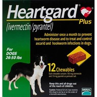 Heartgard Chewables Plus Green Dogs 26-50lbs (12-22kg) - 12 Chewables