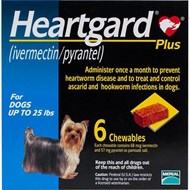 Heartgard Chewables Plus Blue Dogs Under 25 lbs (11 kg) - 6 Chewables