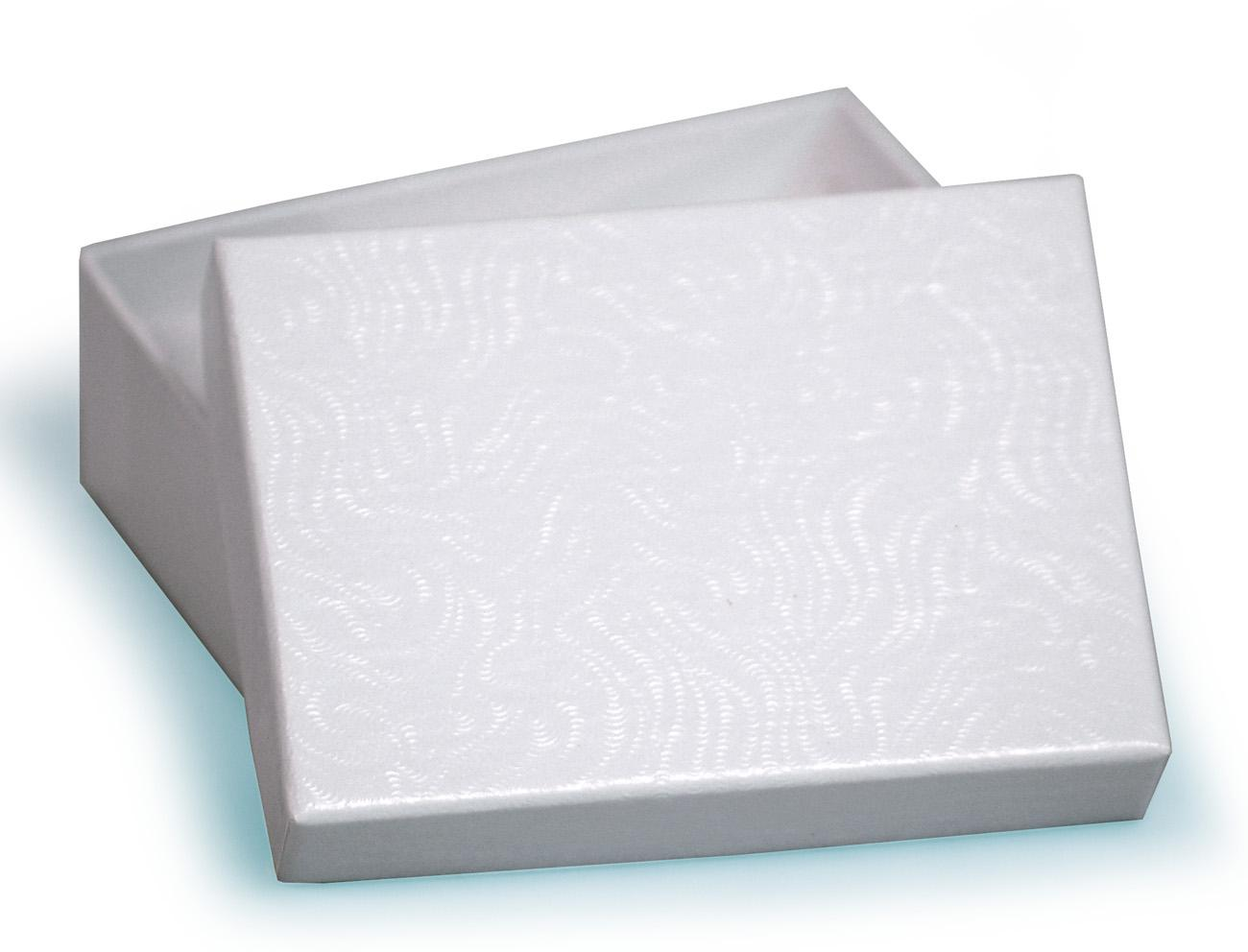 Medium Recycled Multi Purpose White Swirl Gift Box