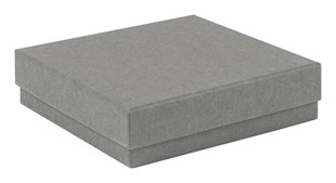 Grey Kraft Recycled Jewellery Boxes 89 x 89 x 23mm (KCGR18)