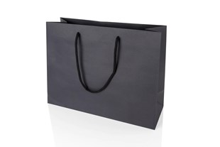 Large Landscape Black Paper Gift Bag With Rope Handles 250 x 330 x 120mm (JULBLLA)
