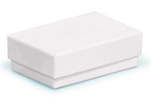 White gift box (small / medium) in recycled material - 62 x 42 x 21mm (CF40/4)
