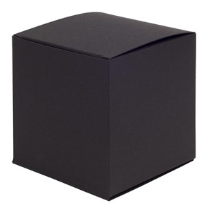 Black Matt One-Piece Square Gift Box 100 x 100 x 100mm (FCBL02)