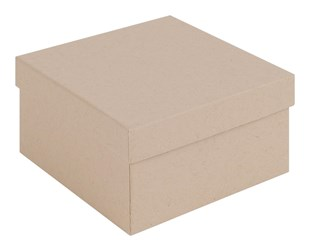 Wholesale square kraft brown gift box - Deep size : 89 x 89 x 51mm (KR21)