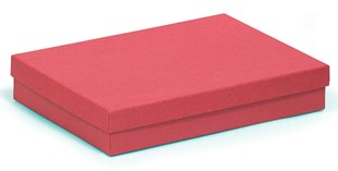 Large kraft red multi-purpose recycled box 178 x 128 x 32mm (KCRED80)